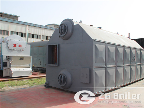 10 Ton Coal Fired Double Drum Chain Grate Steam Boiler