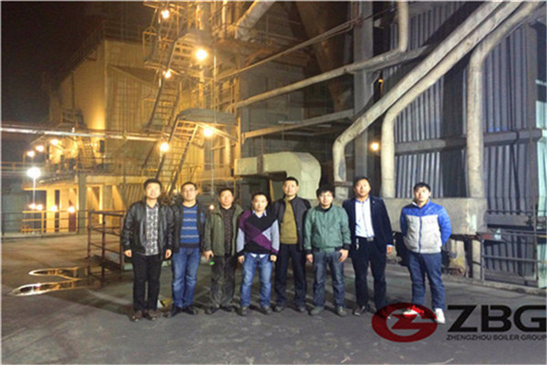 customers visit CFB boiler